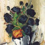 Bellucci, Una rosa rossa, olio su tela cm.