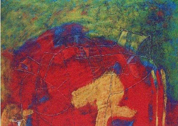 Caggiano, Cromofania - 13 - tecnica mista su carta cm. 47x66