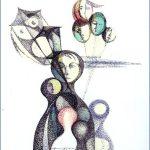 AQUILONI - tecnica mista su carta cm. 23x18