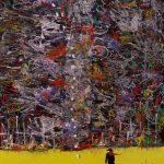 Bellucci, Autoritratto con impronte 2008 acrilico su tavola cm. 80x70