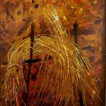 Bellucci, Il covone 1982, tecnica mista su tavola cm. 80x60