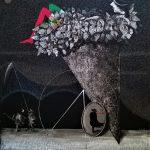 Bellucci, Il perdigiorno acrilico su tavola cm. 128x118