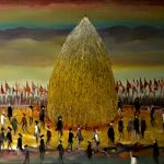 Bellucci, La Festa del Grano olio su tela cm. 100x120