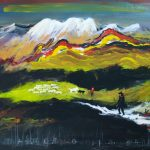 Bellucci, La mia terra olio su tela cm. 100x120